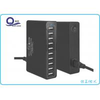 10 Ports Multiple USB Travel Charger , USB Charging Hub with 50W 10A Power outlet Manufactures