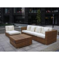 Indoor / Outdoor Rattan Furniture , Cane Corner Sofa For Meeting Room Manufactures