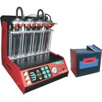 China Automotive Engine Carbon Fuel Injector Cleaning Machine , 8 Cylinders Injectors on sale