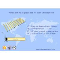 China 5*85mm Nd Yag laser  rod yellow pink crystal  for tattoo removal  beauty machine on sale