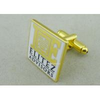Customized Personalized Tie Bar For Business Gifts / Hard Enamel Promotional Cufflink Manufactures