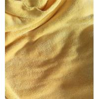 China 150cm Width 550gsm Microfiber Cleaning Cloth Yellow Coral Fleece 150D / 144F on sale
