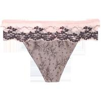 Classical Jacquard Satin Sexy Woman Thongs  Embroidery Lace For Adult Manufactures