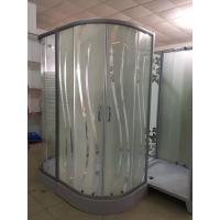 Square Stall Stripe Glass Corner Shower Enclosures 15cm Height Manufactures