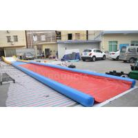Quality 27m Long Air Sealed Inflatable Water Slides For Lakeside / Inflatable Slip N Slide for sale