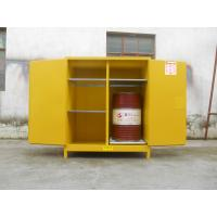 China 110 Gallon Yellow Drum Storage Cabinets With Removable Roller For Oil Paint on sale