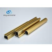 Standard Polishing Golden Extruded Aluminum Framing For Decoration GB5237.1-2008 Manufactures