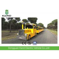 Metal Structure Mini Trackless Train 62 Seats For Amusement Park Diesel Powered Manufactures