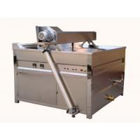 Automatic Stirring Plantain Chips Fryer Machine / 79kw Peanut Frying Machine Manufactures
