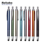 Stylus Metal Ballpoint Pen With Silkscreen Printing / Pad Printing Manufactures