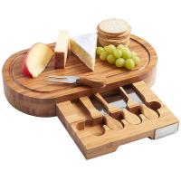 China Outdoor Indoor Bamboo Cheese Board Cutlery Knife Set With Laser Or Burned Logo on sale