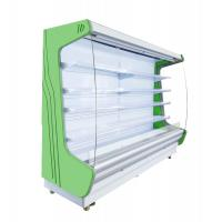 China Universal Wheel Multi - Deck Front Open Refrigerator PVC Coated Adjustable Shelves on sale