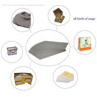 Uncoated tough 1200gsm Grey Board Paper , Straw Board Paper 70x100cm