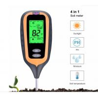 New 4 IN 1 Digital Soil Moisture Meter PH Meter Temperature Sunlight Tester for Garden Farm Lawn Plant with LCD Display Manufactures