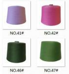 close virgin spun polyester yarn dope dyed,30S/1,ring spinning Manufactures