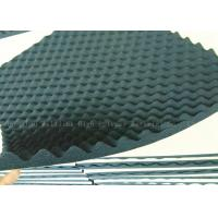 30mm Acoustic Foam / Sound Absorption Panels Black Wavy Shape Fireproof Adhesive Manufactures