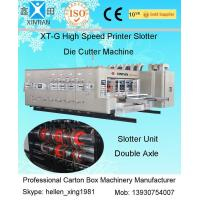 China CE Automatic High - Speed Flex Sticker Printing Slotter Machine With Lead Edge Feeder on sale