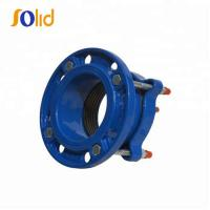 China PE Pipe Flexible Joint Ductile Iron Flange 12 Inch Epoxy Powder Coating on sale