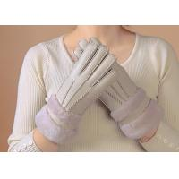 Waterproof Womens Shearling Lined Gloves , Ladies Grey Sheepskin Gloves  Manufactures