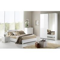 High Gloss Childrens Bedroom Furniture Sets White Color Lacquer Painting Finish