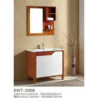 China 16mm Oak / Plywood Ceramic 36 Inch Bathroom Vanity 2 Doors Without Drawer on sale
