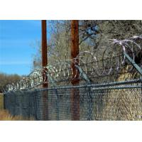 Stainless Steel 304 Concertina Razor Barbed Wire For Highway / Farm / Garden / Fence Manufactures