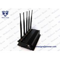 China Desktop 5 High Power Antenna Black Mobile Phone WiFi Signal Jammer on sale