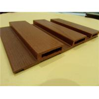 Fireproof Wood Grain Printed WPC Wall Panel For Decoration 198 * 16mm Manufactures