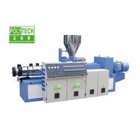 Counter Rotating Twin Screw Extruder , SJZS Twin Screw Plastic Extruder Manufactures