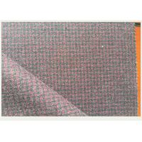 Red And Gray Tartan Wool Fabric Houndstooth Classical For Mens Formal Suits Manufactures