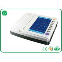 China CE Approved Portable 12 Channel ECG Machine Alphabetic Keyboard on sale