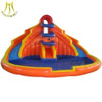 China Hansel popular outdoor commercial bouncy castles water slide with pool fr wholesale on sale
