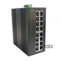 Quality 24 VDC Optical Ethernet Switch DIN Rail High Speed With FCC Part 15 for sale
