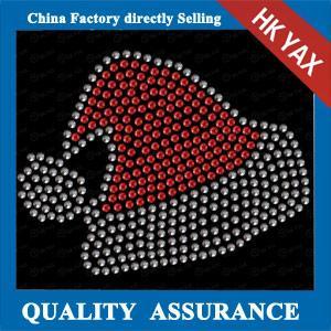 China Jingling Bell hot fix rhinestone transfer design, iron on rhinestone transfer designs on sale