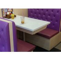High back long Double sided button tufted leather Booth Seating for restaurants Manufactures