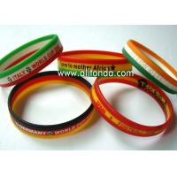 Custom silk print debossed embossed rubber silicone bracelet with logo print engrave ink filled silicone wristband Manufactures