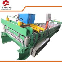 910 Model Single Layer Roll Forming Machine , High Rib Profile Roll Forming Machine Manufactures