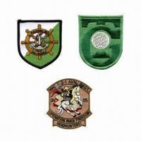 Embroidered Patches, Made of Polyester Manufactures