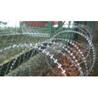Buy cheap Anti Aging Concertina Razor Wire , Razor Barbed Wire Mesh BTO-22 / CBT-65 from wholesalers