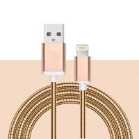 Usb data cable stainless steel wire phone cable charger usb cable bulk for sale Manufactures