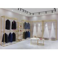 China Wedding Shop Clothes Display Stand For Retial Shop With Shelf on sale