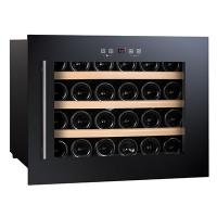 China 24 Bottles 56L Wine Cooler Single Zone Build in cooler on sale