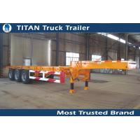 Multi axle 20 feet gooseneck tank container trailer chassis with Double brake chamber Manufactures