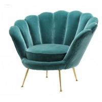 China Hote sale elegant flower shape living room chair velvet fabric furniture office chair stainless steel legs chair on sale