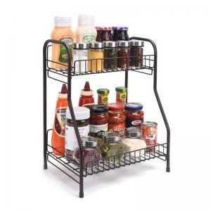 Kitchen Spice Organizer 2Wire Baskets Home Display Rack For Bottles Manufactures