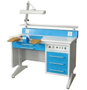 EM-LT5 Steel Frame Dental Lab Workstation With Adjustable 3D Lighting System Manufactures