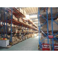 China multi level double deep pallet rack , 500 - 2000KG double entry selective pallet racking on sale