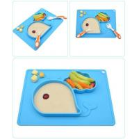 Non-Slip BPA&PVC Free Blue Silicone Portable baby Placemat Mini Mat For Toddlers Infants for sale