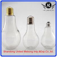lamp bulb round shaped glass perfume bottle for decorations Manufactures