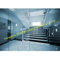 Frameless Clear Tempered Glass Facade Front Swing Door Nature Light Glazing French Door Design Manufactures